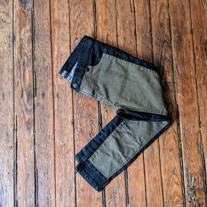 OU black and army green pants